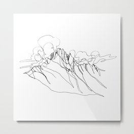 Alpha - Single Line Metal Print