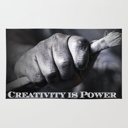 Creativity Is Power Rug