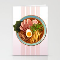 ramen Stationery Cards featuring Ramen by Tami Wicinas