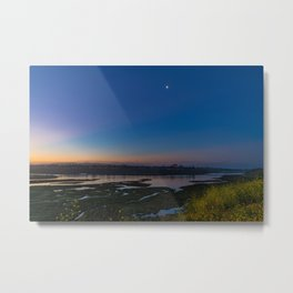 Crescent Moon Over Newport Metal Print