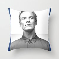 prometheus Throw Pillows featuring Prometheus - David 8 - Employee of the month by Yiannis