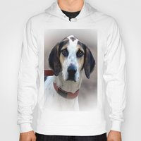 the hound Hoodies featuring Hound 2 by Doug McRae