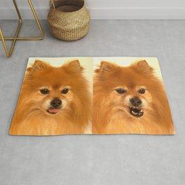 Angry Pomeranian dog Rug