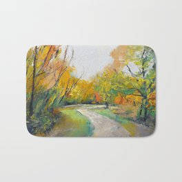 Autumn Woodland Path Bath Mat