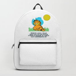 when i die i may not go to heaven garfield Backpack