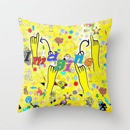 ASL Imagine Throw Pillow