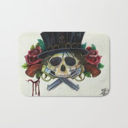 """Snake Eyes"" by KC Krimsin Bath Mat"