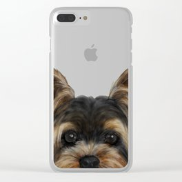 Yorkshire Terrier Mix color Clear iPhone Case