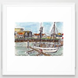The Harbour, Figueira Da Foz, Portugal Framed Art Print