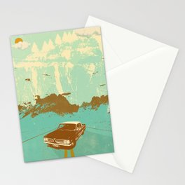 LONE BLUE ROAD Stationery Cards