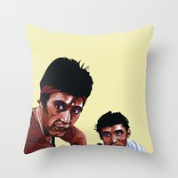scarface Throw Pillows featuring Scarface by Taylor Gonzales