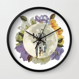 First men on the moon Wall Clock