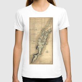 Vintage Map of Lake Champlain (1865) T-shirt