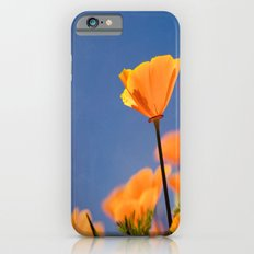Poppies on Blue iPhone 6s Slim Case