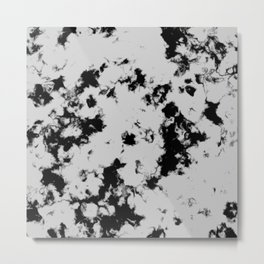Marble Black and White Digital Design Metal Print