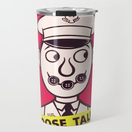 Vintage poster - Button Your Lip Travel Mug