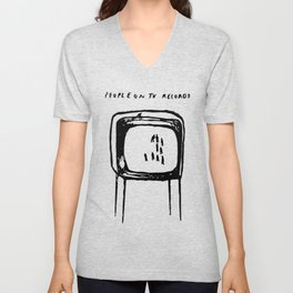 PEOPLE ON TV RECORDS Unisex V-Neck