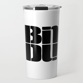 BINDU logo black Travel Mug