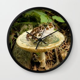 Toad Stool. Wall Clock
