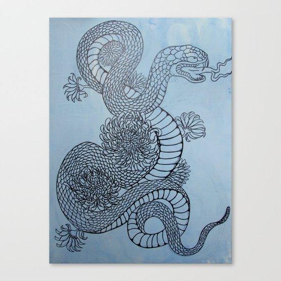snake in the garden Canvas Print