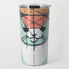 Cubist Cat Study #8 by Friztin Travel Mug