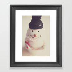 mr. snowman Framed Art Print