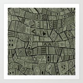 ESHE charcoal mono Art Print
