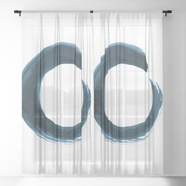 Enso Serenity No.6q by Kathy Morton Stanion Sheer Curtain
