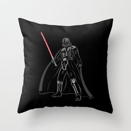 Font vader Throw Pillow