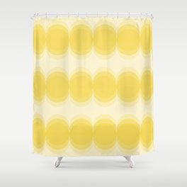 Four Shades of Yellow Circles Shower Curtain