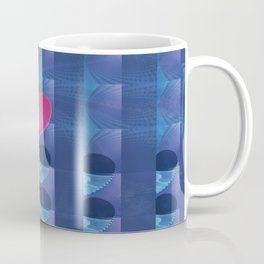 Fractal Art- Heart Art- Pink Heart- Blue Heart-U Know It- Childrens Art-Love Coffee Mug