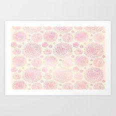 Vanilla Pink Blooms Art Print