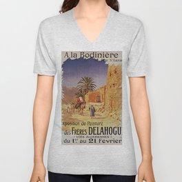 Affiche Expo Delahogue Bodinière 1908 Unisex V-Neck