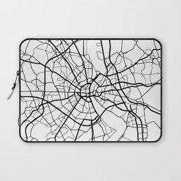 COLOGNE GERMANY BLACK CITY STREET MAP ART Laptop Sleeve
