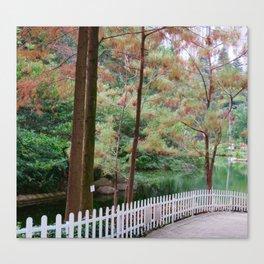 A walk through the park Canvas Print