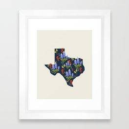 Lone Star State of Flowers Framed Art Print