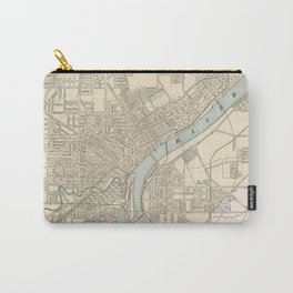 Vintage Map of Toledo Ohio (1901) Carry-All Pouch