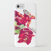 he man iPhone & iPod Cases featuring he-man by BzPortraits