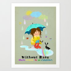 Emmas rainbow Art Print