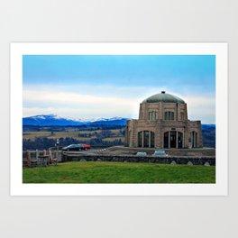 Vista House at Crown Point Art Print