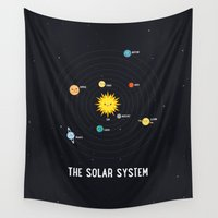 solar system Wall Tapestries featuring Solar System by Sara Showalter