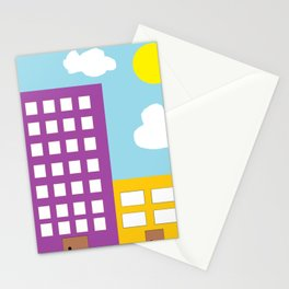 Microsoft Paint City Stationery Cards