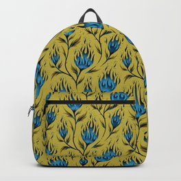 Fire Flower - Gold Blue Backpack