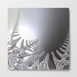 Abstract crystal fern Metal Print