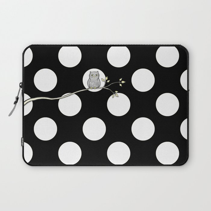 Out on a Limb - Polka Dot Owl Moon Laptop Sleeve