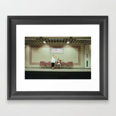 HI HELLO Framed Art Print