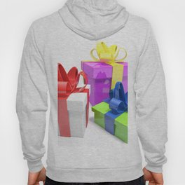 Three gift boxes on white surface - 3D rendering Hoody