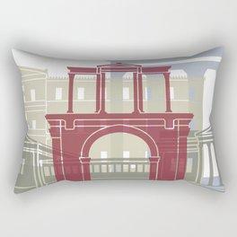 Athens skyline poster Rectangular Pillow