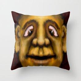Cross Eyed Dude Throw Pillow