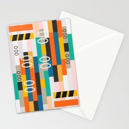 Modern abstract construction Stationery Cards